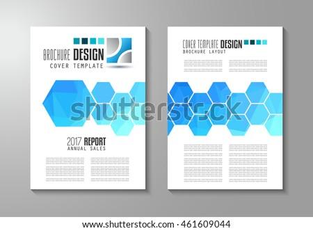Brochure Template Flyer Design Depliant Cover Stock Vector - Marketing brochures templates