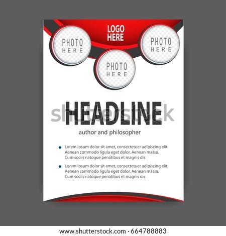 brochure template flyer design vector background stock vector