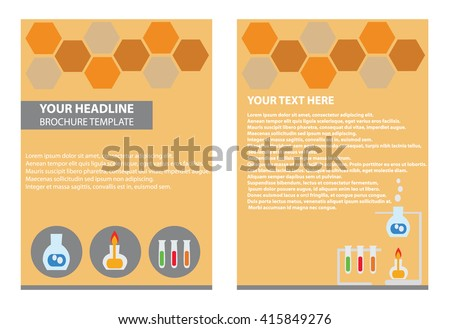 Brochure Template Illustrator Science Report Lap Stock Vector - Brochure template illustrator