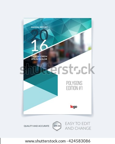 Brochure Template Layout Cover Design Annual Stock Photo Photo