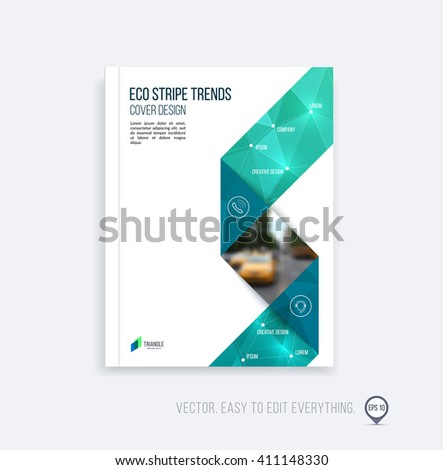 Brochure Template Layout Cover Design Annual Stock Vector
