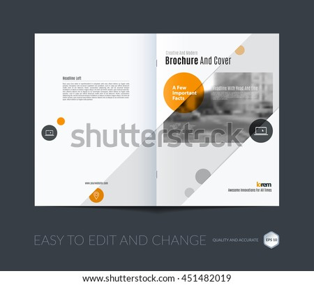 Brochure Template Layout Cover Design Annual Stock Vector Royalty - A4 brochure template