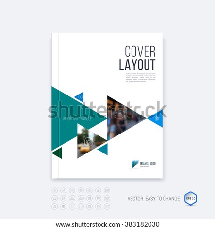 Brochure Template Layout Cover Design Annual Vector – Emerald Flyer Template