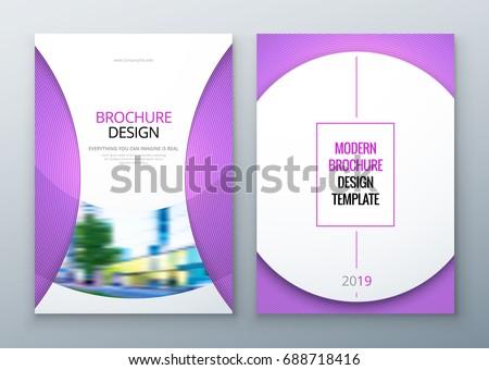 Brochure Template Layout Design Corporate Business Stock Vector