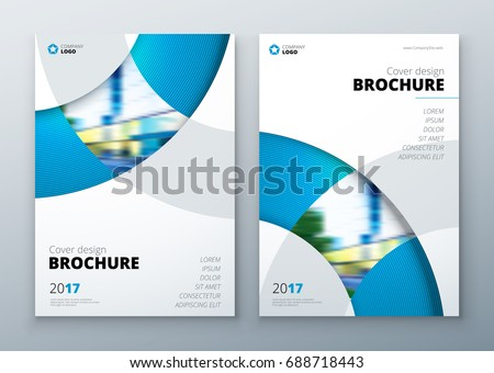 brochure template layout design corporate businessのベクター画像素材
