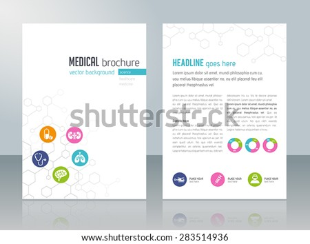 Brochure Template Medical Topics Healthcare Science Stock Vector