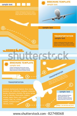 Brochure template ?n a theme of transport and travel. - stock vector