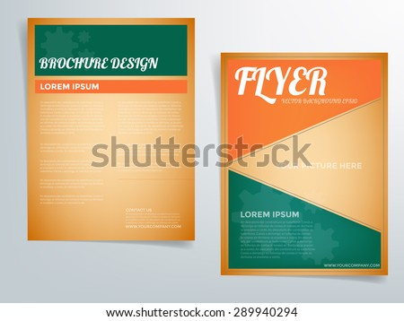 "Thaiview'S ""Vector Flyer Brochure Template"" Set On Shutterstock"
