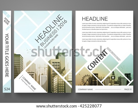 Brochure design template vector.Flyers report business magazine poster.Abstract square template and city.Cover book presentation portfolio.Cover brochure design template background.Layout in A4 size. - stock vector
