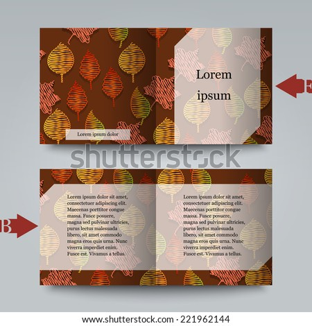 Brochure template with autumn background. Eps10 Vector illustration - stock vector