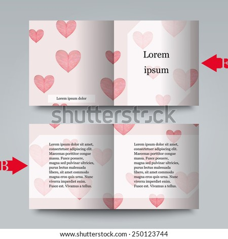 Brochure template with love background. Eps10 Vector illustration - stock vector