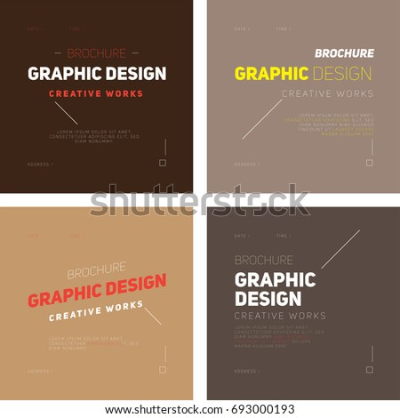 Brochure Templates Simple Modern Design Stock Vector - Simple brochure templates