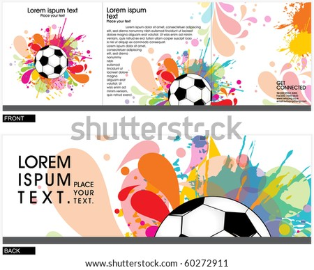 brochure (tri-fold brochure) cover template,vector illustration - stock vector