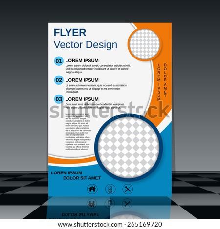 Brochure vector template. Flyer, booklet, poster abstract vector design. - stock vector