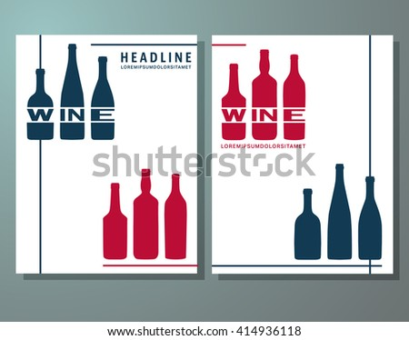 wine tasting journal template - wine card restaurant brochure design flyer stock vector