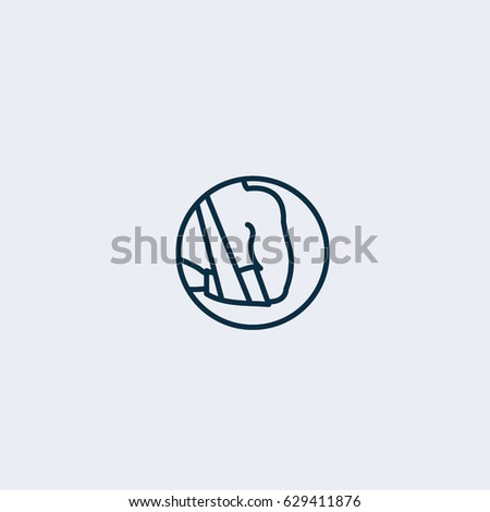 broken arm icon broken arm sign stock vector 629411876 shutterstock