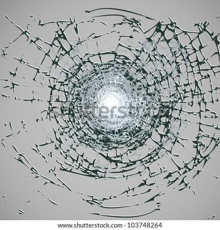Broken Glass Vector - stock vector