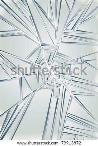 Broken glass. Vector background. - stock vector