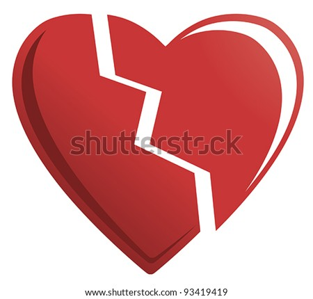 broken heart stock photos  images    pictures shutterstock broken heart 3d vector broken heart vector free download