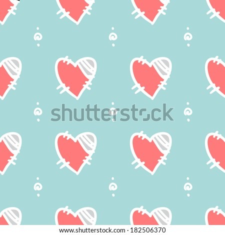 Broken heart seamless pattern
