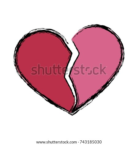 Broken Heart Symbol Stock Vector 2018 743185030 Shutterstock