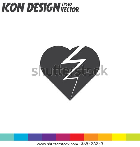 broken heart vector icon