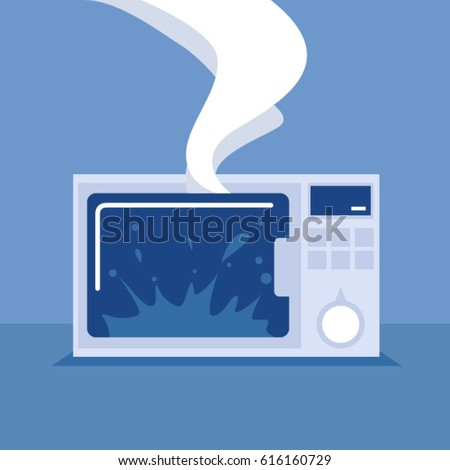 broken microwave clipart. broken microwave oven. household appliances. support service. read the user guide. do clipart t