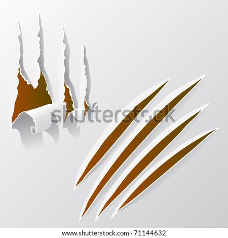 Broken Paper - stock vector