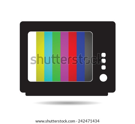 broken TV - stock vector