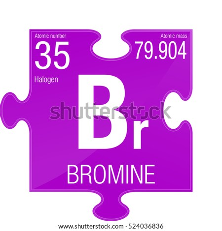 bromine symbol element number 35 of the periodic table of the elements chemistry - Bromine Periodic Table Atomic Number