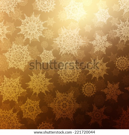Bronze christmas texture pattern. EPS 10 vector file included - stock vector