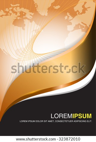 Bronze luxury business vector design. Abstract background for flyer, brochure or poster.   - stock vector