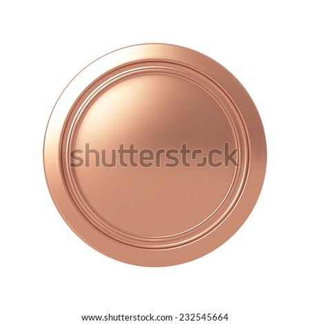 Bronze medal. Highly detailed vector illustration. - stock vector