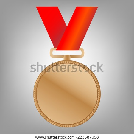 Bronze medal winners on the tape. vector illustration