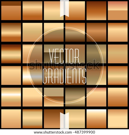 Bronze Metallic  Gradient Set - Creative and Unique, easy to use as Background or filling