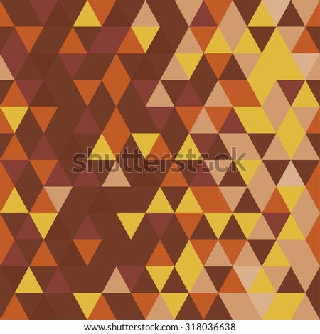 Bronze or gold vintage concept. Abstract seamless pattern. Origami ornament. Geometric backdrop. Polygonal crystal texture. Triangular texture. - stock vector