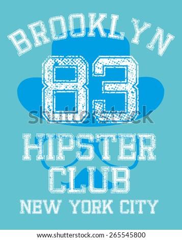 brooklyn hipster club vector art - stock vector
