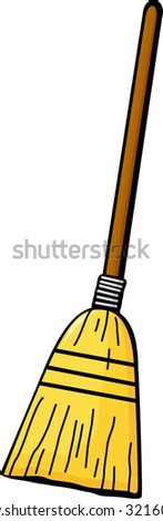 broom - stock vector