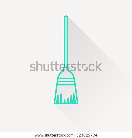 Broom vector icon - stock vector