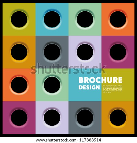 broshure background with eyelets - stock vector