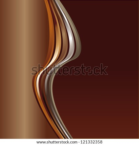 brown abstract background with wave - stock vector