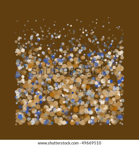 Brown abstract pattern with circles (vector) - stock vector