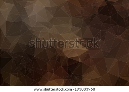 brown abstract polygonal background. Triangles background for your design - stock vector