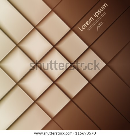 brown abstract vector background, web design element, vintage art banner, geometric illustration - stock vector