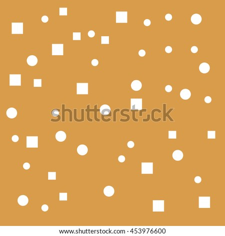 Brown Background With geometric elements - stock vector