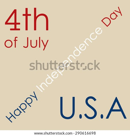 Brown background with text for independence day. Vector illustration