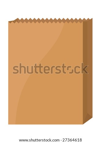 Brown bag isolated on white
