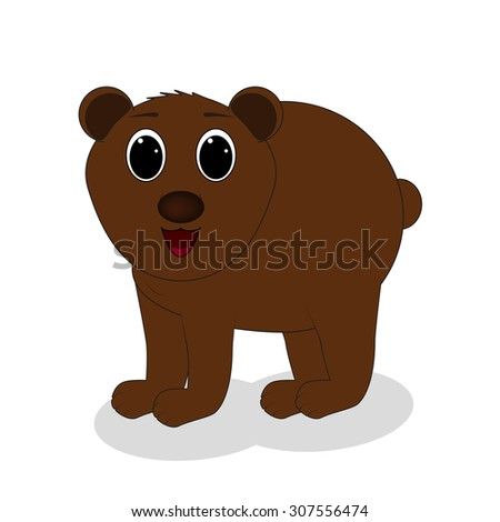 brown bear standing on a white background