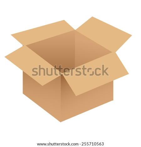 Brown/beige cardboard box vector