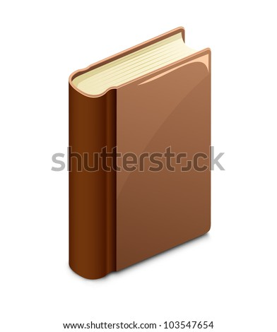 Brown book. Vector illustration